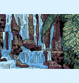 tropical landscape with waterfall vector image