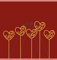 valentine s day vintage card with paper hearts vector image