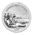 washingtons congressional gold medal back vintage vector image vector image