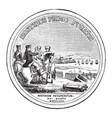 washingtons congressional gold medal back vintage vector image vector image