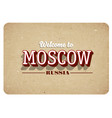 welcome to moscow vector image vector image