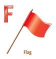 alphabet letter f flag vector image