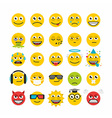 Set of emoticons vector image