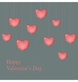 Valentine card template with wish vector image