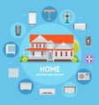 heating and cooling house concept vector image
