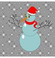 A funny Christmas snowman vector image vector image