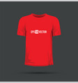 a red t-shirt vector image vector image