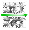 a square labyrinth success concept maze game vector image vector image