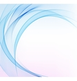 Abstract background blue wavy vector image