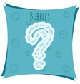 Abstract element Question mark made of bubbles vector image vector image