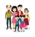 Adult family with happy kids or children vector image