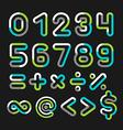 Alphabet line transparent color font style vector image vector image