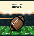 american football bowl tournament vector image