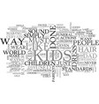 back when i was a kid text word cloud concept vector image vector image