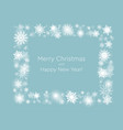banner with snowflakes christmas or new year vector image vector image