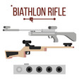biathlon rifle sport gun equipment and vector image