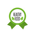 bio food badge vegan logo healthy food vector image