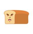 bread angry emoji piece of bread aggressive vector image vector image