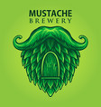 brewery mustache productions logo vector image