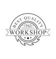 Buzz Saw Premium Quality Wood Workshop Monochrome vector image vector image