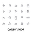 candy shop candy store sweet shop candy bar vector image vector image