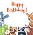 Cartoon birthday card vector image vector image