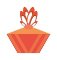 colored gift box decorative orange bow vector image vector image