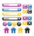 colorful glossy web buttons vector image vector image