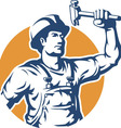 Construction Worker Silhouette vector image vector image