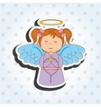 cute angel design vector image vector image