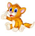 cute cat cartoon sitting vector image vector image