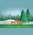 deer in the forest vector image vector image