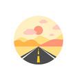 desert icon sign symbol vector image