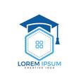 educational or institutional logo design vector image