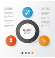 equipment icons set collection of location vector image vector image