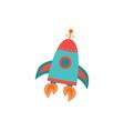 fantasy cartoon cosmic rocket or spaceship flat vector image vector image