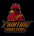 fighting roosters logo disign vector image vector image