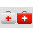 first aid kit set isolated white background vector image