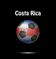 flag of costa rica in the form of a soccer ball vector image
