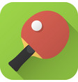 flat icon toy racket ping-pong table vector image