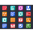 flat internet account setting long shadow icons vector image vector image