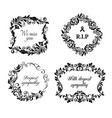 funeral cards condolence floral wreaths vector image vector image