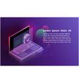 futuristic smartsecurity notebook controls vector image vector image