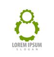 green gear logo concept design symbol graphic vector image vector image