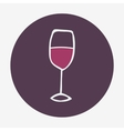 Hand-drawn glass of wine icon isolated on the vector image vector image