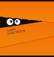 happy halloween card eyes vector image