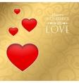 Happy valentine heart vector image vector image