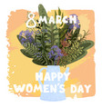 happy womens day march 8 with cute vector image