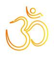 hindu typography traditional culture gradient vector image