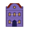 house flat style violet old european building vector image vector image